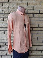 Рубашка мужская коттоновая брендовая высокого качества  реплика ARMANI, Турция, фото 3