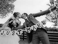 Фотобутафория Гирлянда Just married свадебная фотосессия