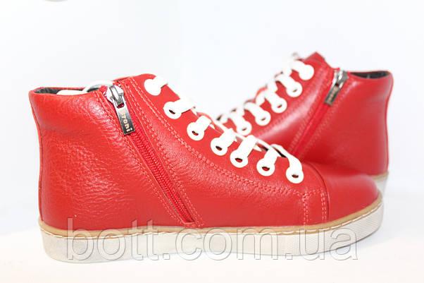 Красные кожаные конверсы, фото 3