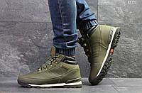 Мужские зимние кроссовки на меху в стиле Timberland, зеленые 41 (26,7 см)