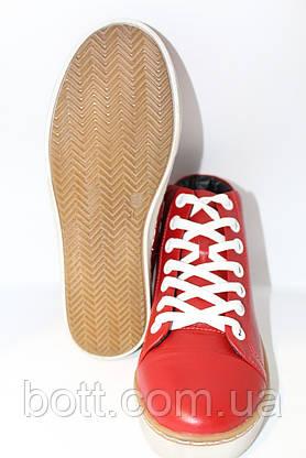 Красные кожаные конверсы, фото 2