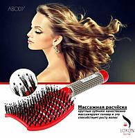 ОРИГИНАЛ Массажная расчёска ABODY с добавлением мягкой щетины, для нарощенных волос