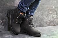Мужские зимние кроссовки на меху в стиле Timberland, черные 41 (26 см)