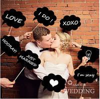 Таблички c мелком для свадебной фотосессии