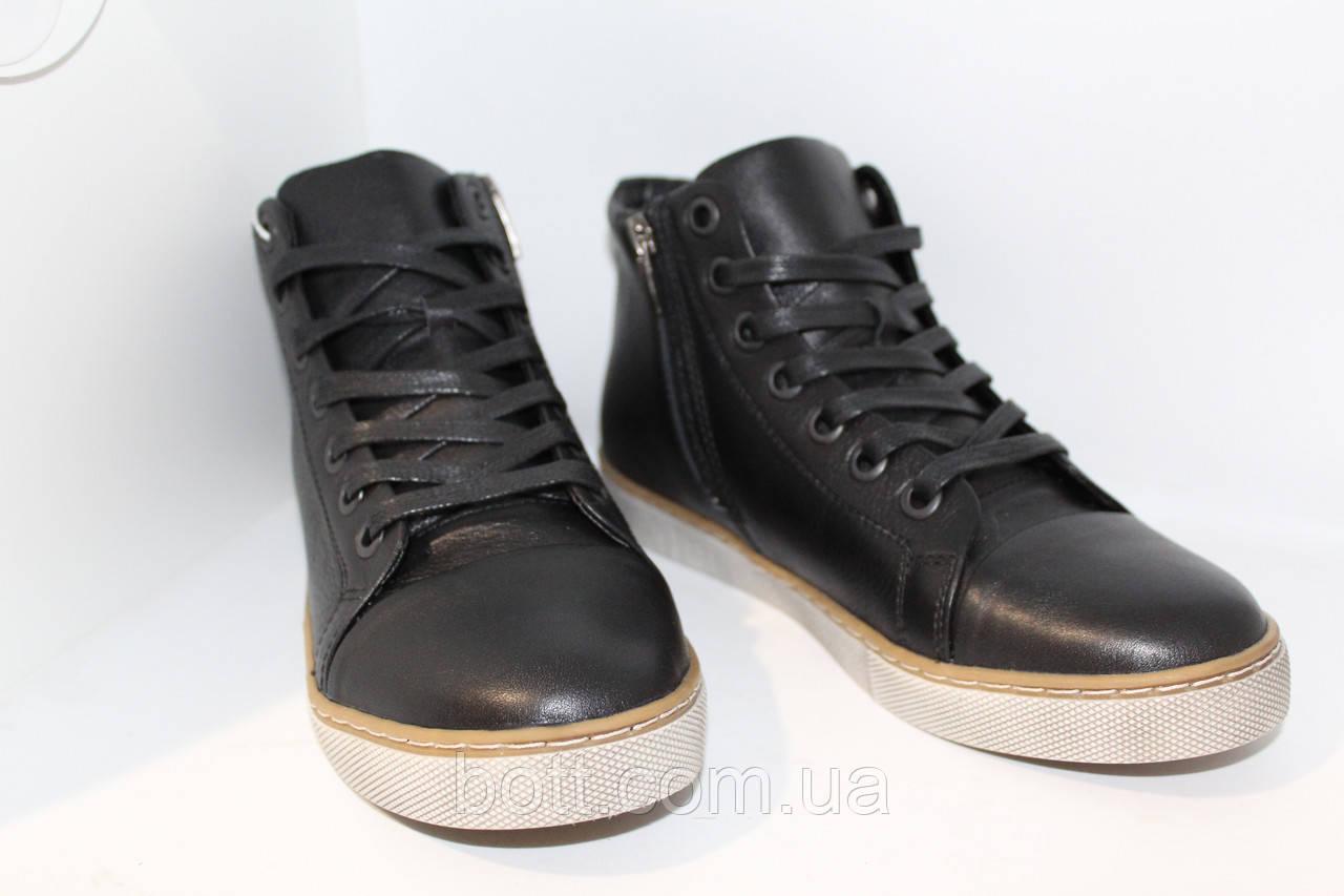 Черные кожаные конверсы