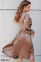 Невероятно красивое шелковое женское платье Разные цвета С, М +большие размеры, фото 1