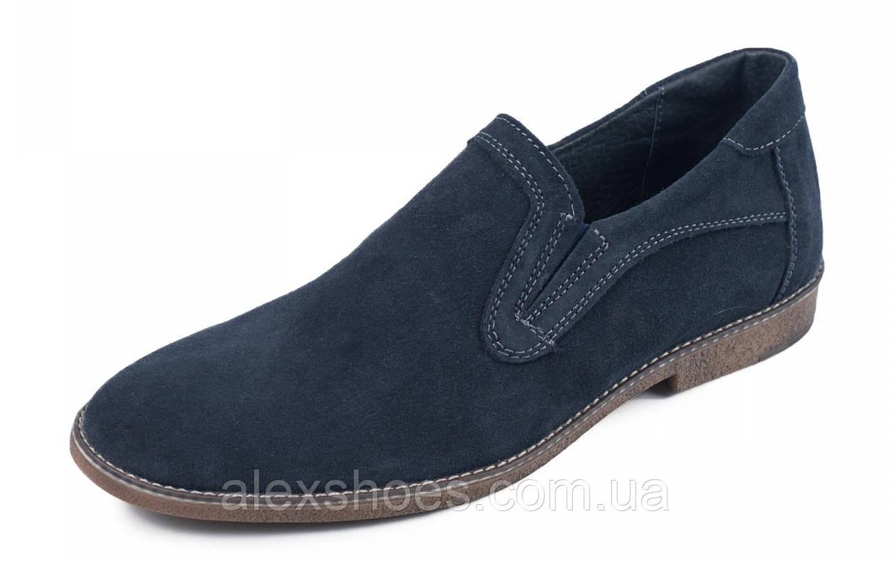 Туфли мужские из натуральной замши от производителя модель МАК245