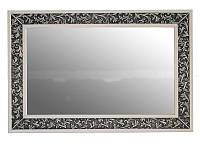 Зеркало Атолл Валенсия 130 белое (патина чёрная), 1175х30х815 мм