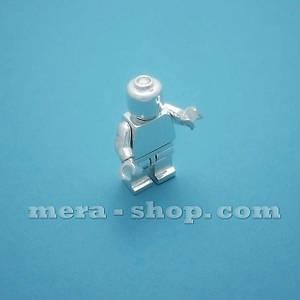 Серебряный человечек Лего LEGO