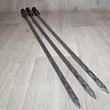 Шампура с деревянной ручкой из нержавейки длина 80см толщина 3мм, фото 2