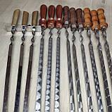 Шампура с деревянной ручкой из нержавейки длина 80см толщина 3мм, фото 5