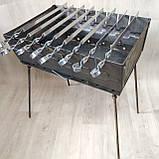 Мангал раскладной в чемодан 2мм с шампурами 8 шт, фото 2