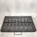 Мангал раскладной в чемодан 2мм с шампурами 8 шт, фото 3