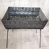 Мангал раскладной в чемодан 2мм с шампурами 8 шт, фото 7