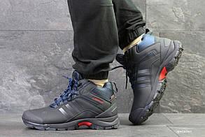 Мужские зимние кроссовки на меху в стиле Adidas Climaproof, синие 44 (28,5 см)