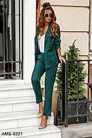 Стильный женский брючный костюм с пиджаком С, М +большие размеры Разные цвета