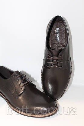 Коричневые кожаные туфли, фото 3
