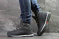 Мужские зимние кроссовки на меху в стиле Timberland, тёмнo-cиние 42 (27 см)