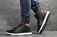 Мужские зимние кроссовки на меху в стиле Nike Air Jordan, черные 46 (29,8 см)
