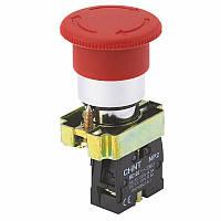 Кнопка-грибNP2-BS5451NC+1NO40ммКрасная