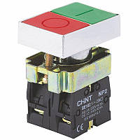 КнопкаNP2-BL83251NO+1NCКрасная+Зеленая