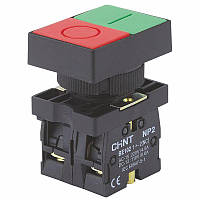 КнопкаNP2-EL83251NO+1NCКрасная+Зеленая