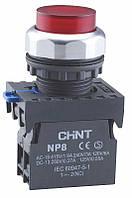 Кнопка виступаюча з підсвічуванням NP8-GND/1 Білий (МК)