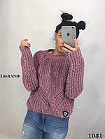 Объемный свободный женский вязаный свитер в расцветках 8204596, фото 1