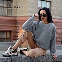 Свободный женский вязаный свитер на каждый день 5504602, фото 1