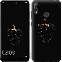 Эксклюзивный чехол на телефон Huawei Y7 2019 Черная клубника