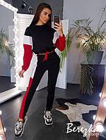 Утепленный женский спортивный костюм с укороченным худи и рукавом летучая мышь 6605739Q, фото 1