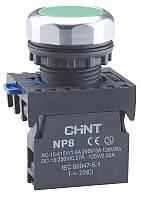 Кнопка плоска NP8-BN/2 Чорний (МК)