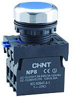 Кнопка плоска з підсвічуванням NP8-BND/1 Білий (МК)
