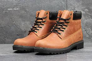 Мужские зимние ботинки в стиле Timberland, коричневые 44 (29 см)