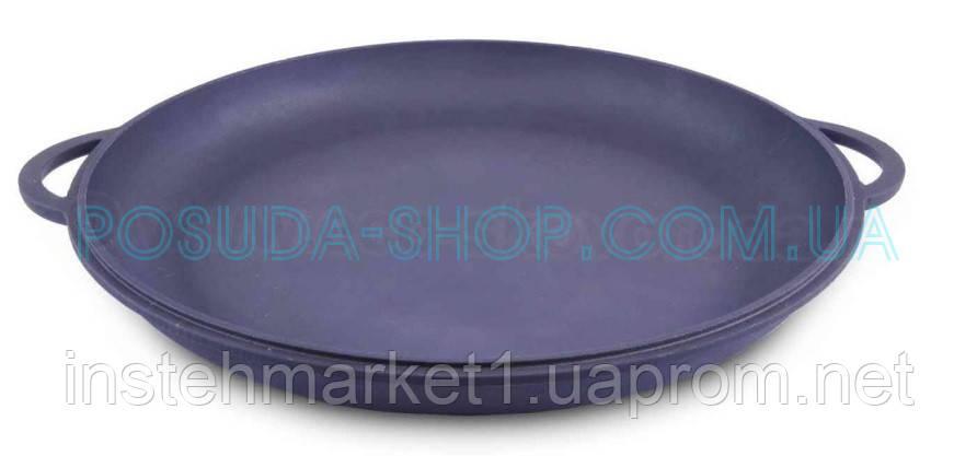 Крышка-сковорода чугунная Ситон, не эмалированная. Диаметр 400 мм.