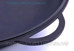 Крышка-сковорода чугунная Ситон, не эмалированная. Диаметр 400 мм., фото 2
