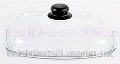 Крышка Биол стеклянная квадратная 26 см. КС26х26 (высокая)
