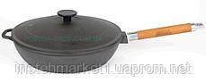 Сковорода Биол 26 см чавунна глибока зі знімною ручкою і чавунною кришкою 03262, фото 2