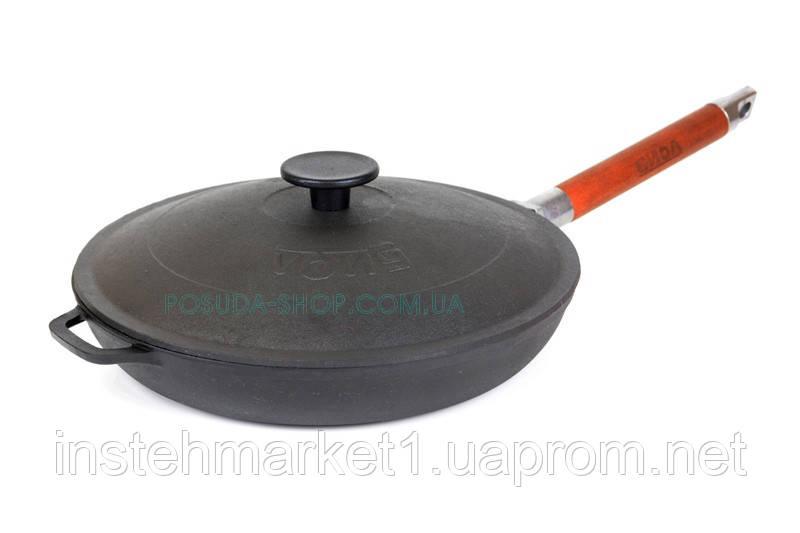 Сковорода чавунна низька Біол зі знімною ручкою і чавунною кришкою 24 см 01242