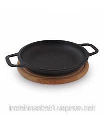 Сковорода чугунная порционная Биол на подставке 20 см. (02032д)