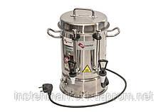 Чайник промышленный электрический с двумя кранами из нержавеющей стали 16 л