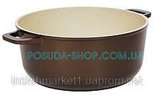 Каструля Класик Декор з антипригарним покриттям і скляною кришкою 3 л К3071ПС, фото 3
