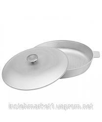Сковорода алюминиевая Биол с рифленым дном 30 см А301