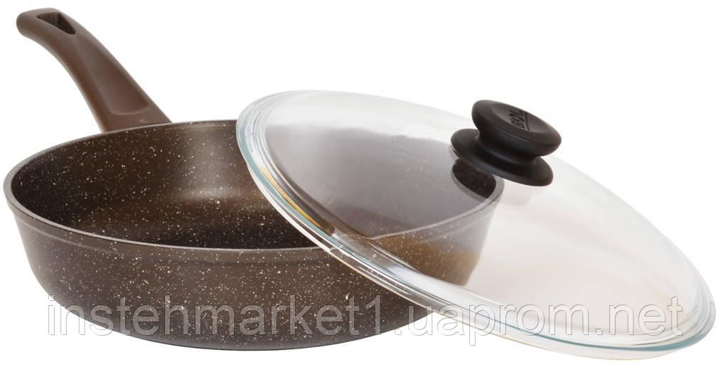 Сковорода Биол Гранит браун с антипригарным покрытием и съемной ручкой 28 см 28133ПС