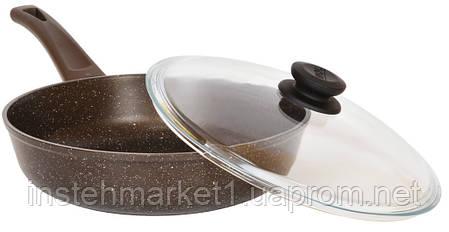 Сковорода Биол Гранит браун с антипригарным покрытием и съемной ручкой 28 см 28133ПС, фото 2