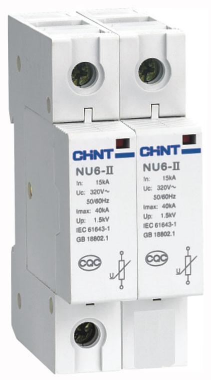 Обмежувач перенапруги NU6-II40kA/460V 2P