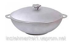 Сковорода алюминиевая WOK с крышкой и двумя ручками 28 см 2803К