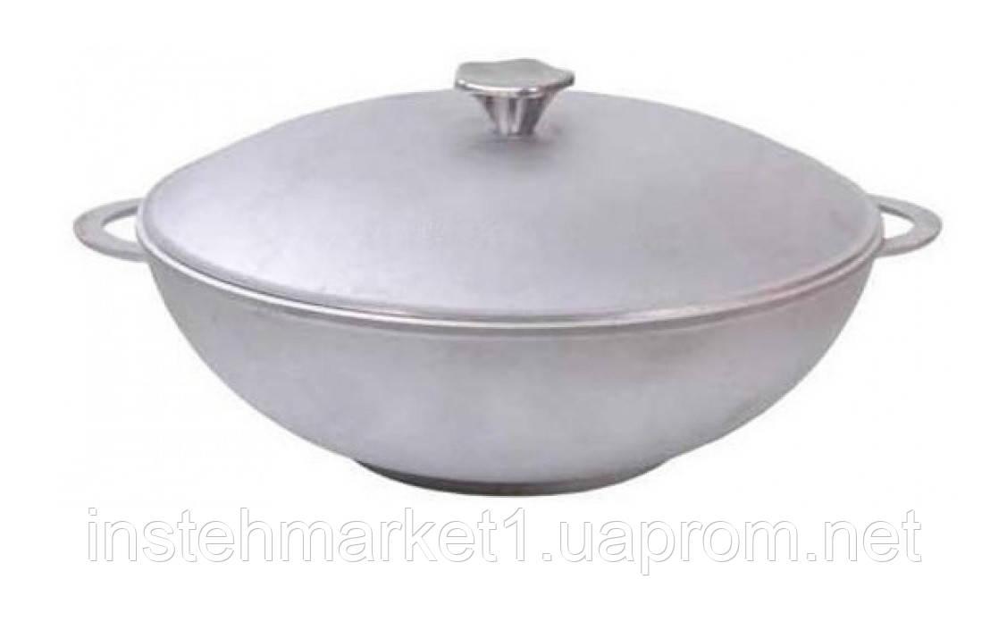 Сковорода алюмінієва WOK з кришкою і двома ручками 30 см 3003К
