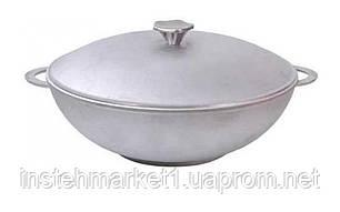 Сковорода алюмінієва WOK з кришкою і двома ручками 30 см 3003К, фото 2