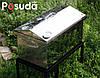 """Коптильня большая из нержавейки с термометром """"Домик"""" (520x300x310), фото 4"""